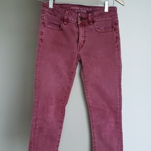 American Eagle Outfitter Red Jeans Super Stretch J